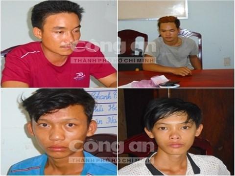 Các đối tượng tham gia vụ án bị bắt giữ
