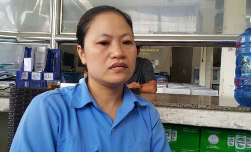 Chị Chu Thị Hà Giang kể lại sự việc. Ảnh: Thành Vinh.