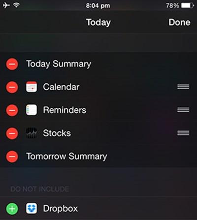 Loại bỏ các widget không dùng đến trong Notification Center.