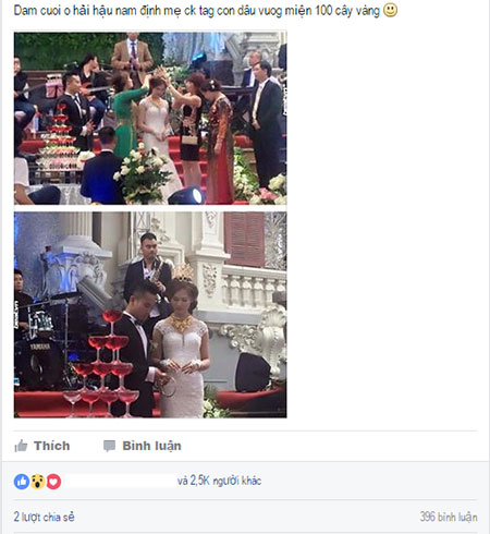 Các diễn đàn trên mạng xã hội sốt xình xịch với lễ cưới hoành tráng, xa xỉ tại Nam Định