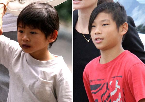Pax Thiên được Angelina và Brad đón về Mỹ năm 2007 lúc 3 tuổi. Cậu nhóc dụt dè, nhút nhát ngày nào giờ đây đã là chàng trai 12 tuổi, cá tính và hiếu động. Jolie tiết lộ rằng, cậu con nuôi người Việt Nam có sở thích lớn nhất là âm nhạc và muốn trở thành DJ.