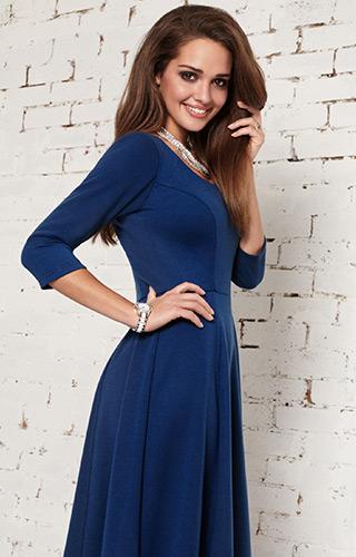 Chuyên gia gợi ý một chiếc váy màu xanh nước biển sẽ là ý tưởng tốt khi bạn có một cuộc phỏng vấn quan trọng. Ảnh: aliestreet.