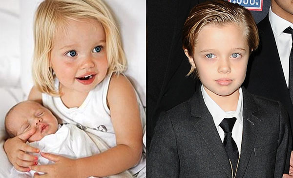 Shiloh là con ruột đầu tiên của cặp minh tinh Hollywood. Cô bé chào đời năm 2006, thuở bé xinh như búp bê với mái tóc vàng rực, đôi mắt xám to tròn. Tuy nhiên, khi lớn dần lên, Shiloh lại thích phong cách tomboy nên luôn cắt tóc ngắn và ăn mặc như một cậu nhóc. Trong 6 anh chị em, Shiloh thân thiết và hợp cạ nhất với Pax Thiên.