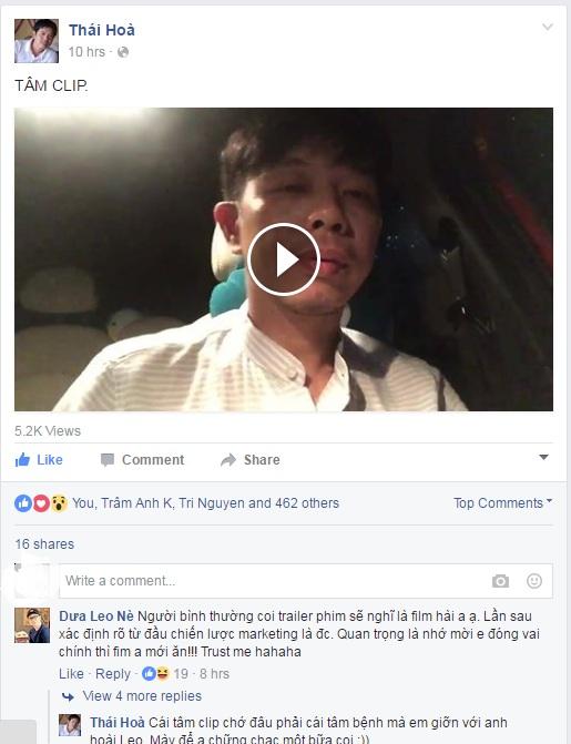 Thái Hoài làm clip gửi lời xin lỗi khán giả.