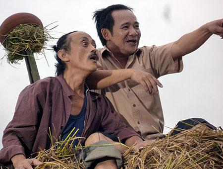 Bộ đôi Quang Tèo - Giang Còi quen thuộc với các vai nông dân chất phác