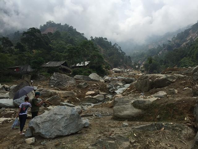 Cảnh tan hoang sau cơn bão số 2 tại Bát Xát, Lào Cai. Ảnh: Cao Tuân