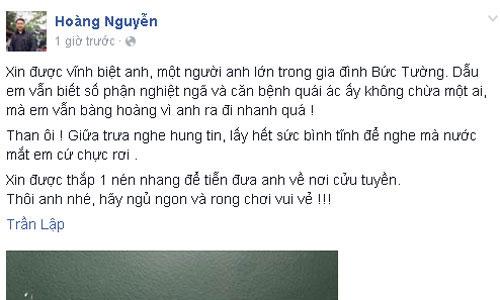 Tâm sự của thành viên đời đầu, Nguyễn Hoàng.