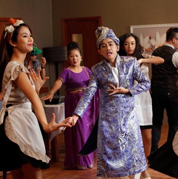 Hình ảnh Diệp Lâm Anh cùng Minh Thuận thời tham gia chung dự án Bếp hát.