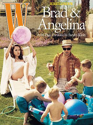 Cũng trong tháng 6/2005, Brad và Angelina xuất hiện trên bìa tạp chí W với bức ảnh trông như một cặp vợ chồng cùng các con nhỏ. Hình ảnh gây nhiều tranh cãi vì nó được chụp vào tháng 3, chỉ ít lâu sau khi Brad chia tay Jennifer Aniston.