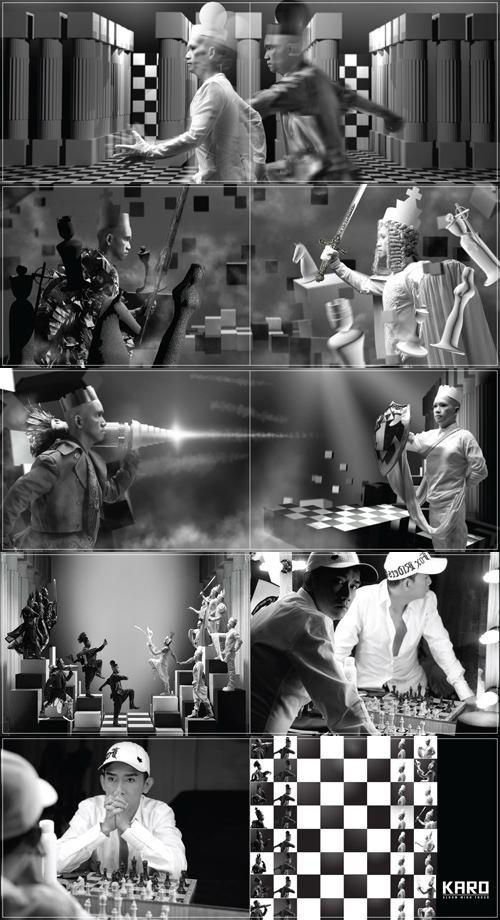 Bìa độc đáo và những hình ảnh ấn tượng của album Karo.