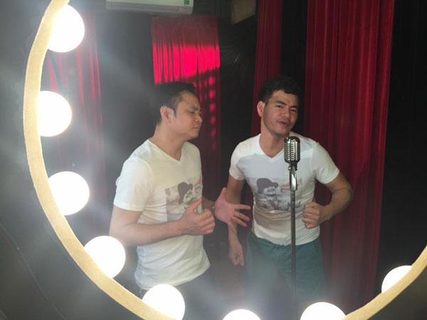 Cặp đôi Xuân Bắc - Tự Long tham gia khi ghi âm ca khúc của nhạc sĩ Trần Lập.