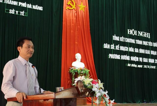 Tiến sĩ Lê Cảnh Nhạc, Phó Tổng cục trưởng Tổng cục DS-KHHGĐ phát biểu tại hội nghị. Ảnh Đức Hoàng
