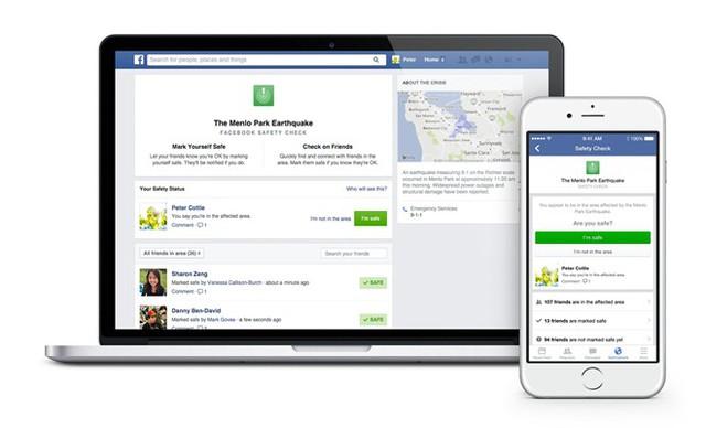 Tính năng thông báo an toàn của Facebook kích hoạt sau vụ khủng bố Paris gây nhiều tranh cãi. Ảnh: Facebook.