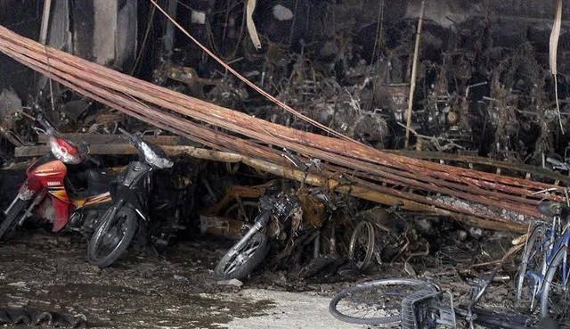 Số xe máy bị cháy vẫn chưa được BQL giải quyết đền bù