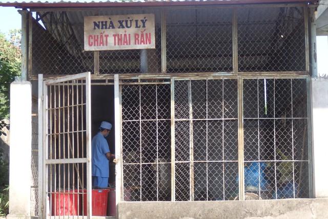 Khu xử lý chất thải rắn và lỏng tại Bệnh viện Đa khoa huyện Đông Sơn. Ảnh: Ngọc Hưng