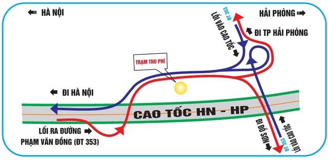 Sơ đồ nút giao đường tỉnh 353 Hải Phòng. Ảnh Vidifi