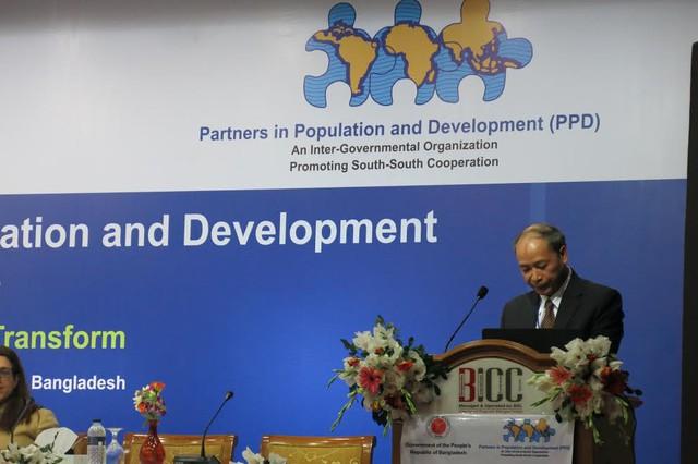 Ông Nguyễn Văn Tân, Phó Tổng cục trưởng phụ trách phát biểu tại Hội nghị