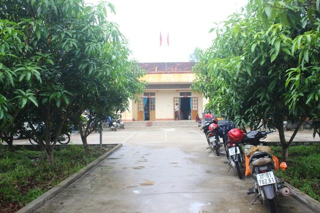 Dãy nhà cấp 4, nơi làm việc của cán bộ Trung tâm BTXH