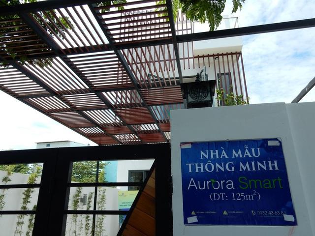 Đây là nhà phố thông minh Aurora Smart đầu tiên trên thị trường Đà Nẵng. Nhà ở mặt tiền đường 5,5m; vỉa hè 2,5m, phường Hòa Minh, quận Liên Chiểu, Đà Nẵng. Ảnh: Đức Hoàng