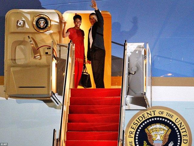 Tổng thống Barack Obama cùng phu nhân.