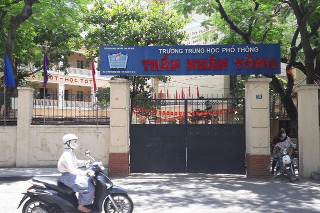 Trường THPT Trần Nhân Tông nơi xảy ra sự việc đáng tiếc. Ảnh TG
