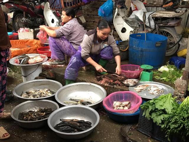Tại chợ, chỉ có lượng cá, tôm nước ngọt là vẫn tiêu thụ bình thường