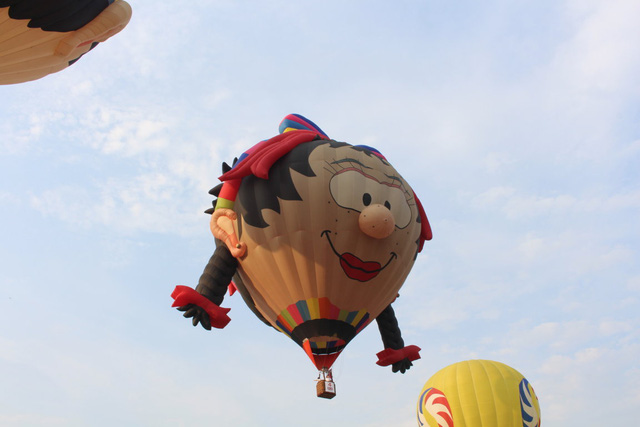 Khinh khí cầu hình bé trai ngộ nghĩnh của đại diện đến từ Hàn Quốc