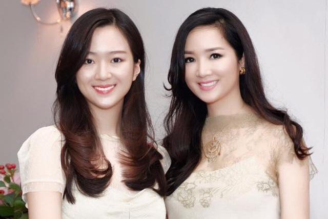Hoa hậu Giáng My và con gái (ảnh nhân vật cung cấp).