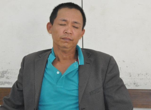 Đối tượng Trần Văn Dạ tại cơ quan công an.