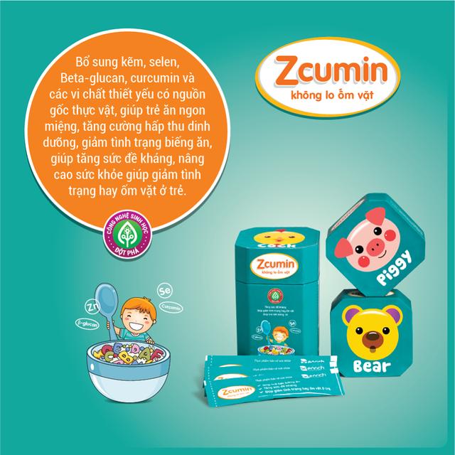 Fevita và cốm Zcumin có tác dụng tăng cường sức đề kháng cho trẻ