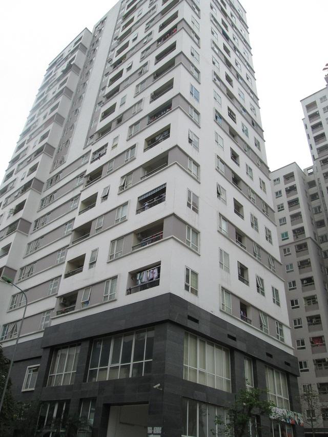 Chung cư CT2 - Khu nhà ở 183 Hoàng Văn Thái. Ảnh: Nông Thuyết