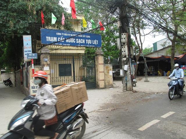 Trạm cấp nước sạch ở ngay đầu thôn Tựu Liệt.