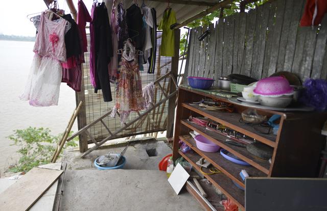 Ông Vũ Huy Khiêm, Phó Chủ tịch UBND phường Bạch Đằng cho biết, trước khi cơn bão số 3, phường đã vận động, tổ chức các hộ dân tại đây di dời.
