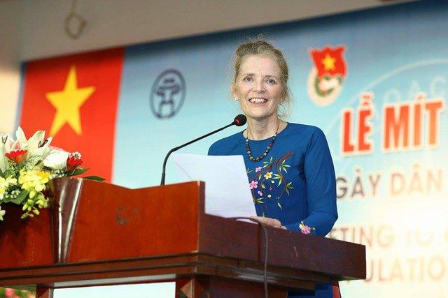 Bà Astrid Bant, Trưởng đại diện UNFPA tại Việt Nam. Ảnh: Chí Cường