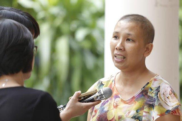 Chị Nguyễn Thị Cẩm Bào (Huế) - một bệnh nhân ung thư vú ban đầu sử dụng phức hệ Nano FGC cho thấy có hiệu quả tích cực