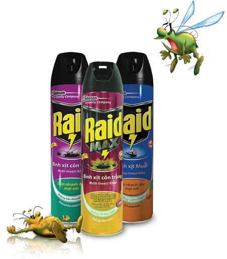 Xóa sạch côn trùng trong nhà với Raid 1