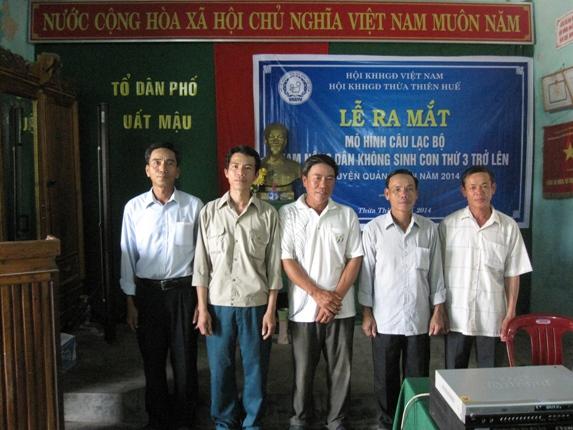 Huế: Nam nông dân vùng biển không đứng ngoài công tác DS- KHHGĐ  1