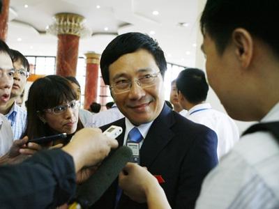 Bài phát biểu của tân Phó Thủ tướng Phạm Bình Minh 1
