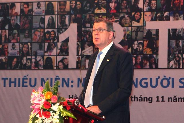 Ông Arthur Erken - Trưởng Đại diện UNFPA tại Việt Nam (Ảnh: Chí Cường)