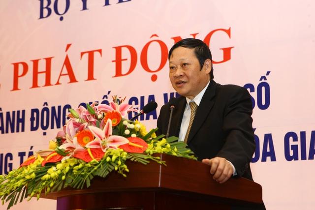 Thứ trưởng Bộ Y tế Nguyễn Viết Tiến phát động Tháng Hành động Quốc gia về Dân số năm 2014.