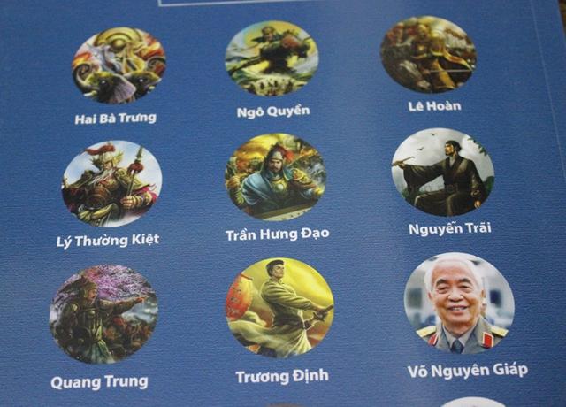 Các vị tướng lịch sử được minh họa bằng những hình ảnh khá phản cảm. Ảnh: A.Quang
