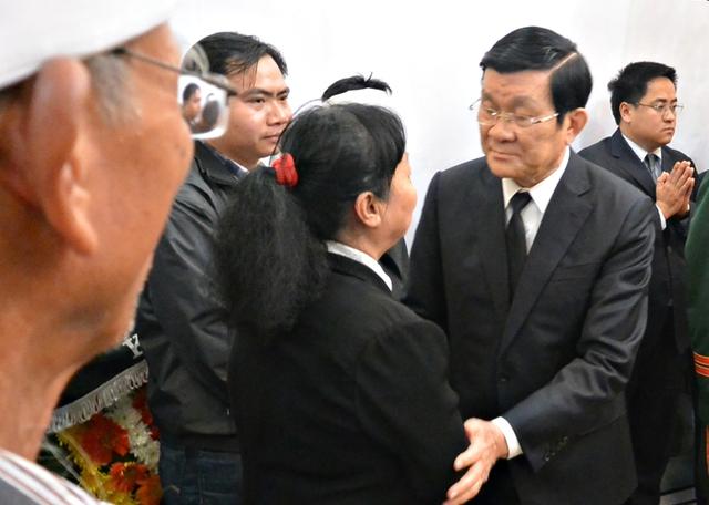 Chủ tịch nước Trương Tấn Sang chia buồn cùng gia quyến ông Nguyễn Bá Thanh