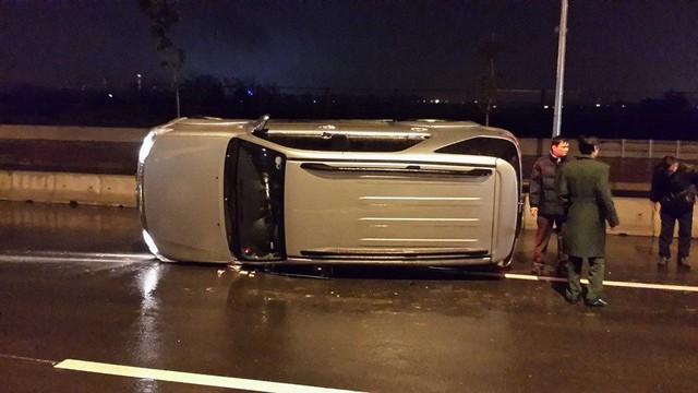 Chiếc ô tô không may dính tai nạn.