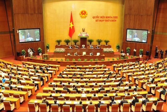 Toàn cảnh kỳ họp thứ chín Quốc hội khóa XIII. Ảnh: TL