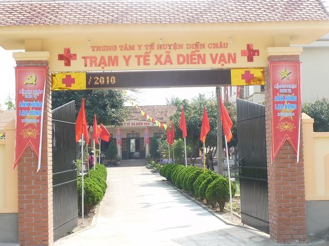 Trạm y tế xã Diễn Vạn.