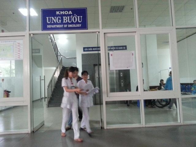Khoa Ung bướu (BV Đà Nẵng) đã chuẩn bị sẵn sàng đón ông Nguyễn Bá Thanh về điều trị. Ảnh Đức Hoàng