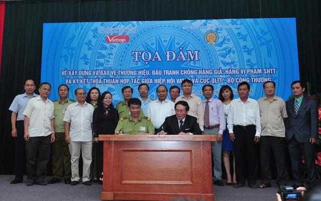 Lễ ký kết thỏa thuận hợp tác giữa Hiệp hội chống hàng giả bảo vệ thương hiệu Việt Nam và Cục Quản lý thị trường- Bộ Công thương