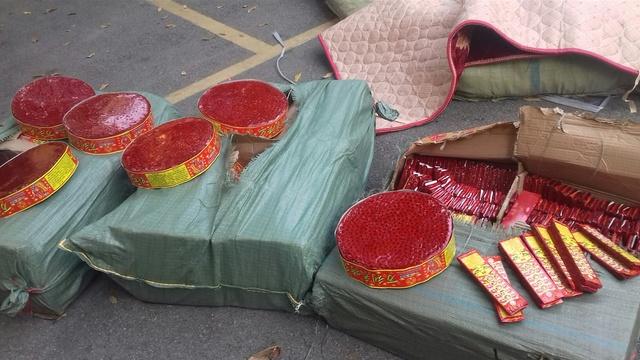 Khối lượng pháo nổ vừa bị Công an Lạng Sơn bắt giữ khi đang trên xe khách xuôi về Nam Định.