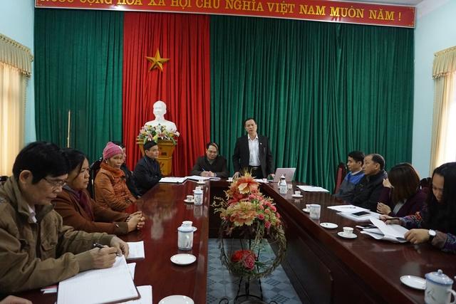 Ông Mai Xuân Phương, Phó Vụ trưởng Vụ Truyền thông - Giáo dục (Tổng cục DS-KHHGĐ) phát biểu tại buổi làm việc với lãnh đạo Chi cục Ds-KHHGĐ tỉnh Bắc Kạn. Ảnh: N.Mai