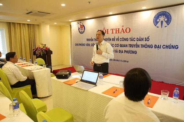 Thạc sỹ, BS Mai Xuân Phương phát biểu tại hội thảo. Ảnh: Đức Hoàng